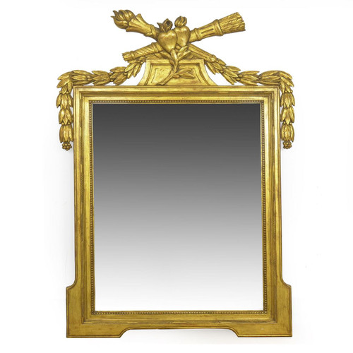 French Neoclassical Giltwood Wall Mirror, 20th Century