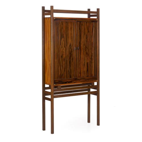 Modern Freestanding Dovetailed Bookshelf Cabinet | John Hein