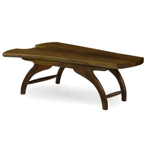 Modern Free-Form Live Edge Walnut Coffee Table   Philip Andrews