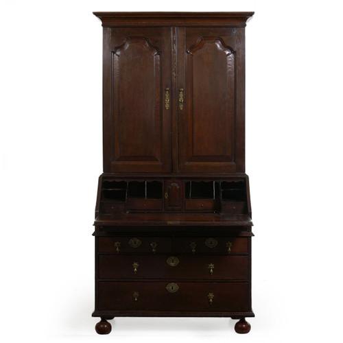 Queen Anne Patinated Oak Secretary Desk | England, 18th Century