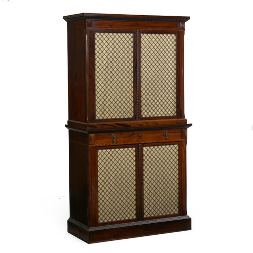 Very Fine Rosewood Humidor Cabinet by Mellier & Co | London c. 1880