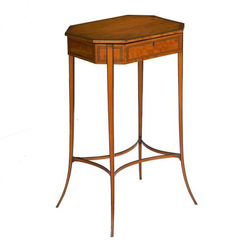 Regency Inlaid Satinwood Octagonal Work Table | London, c. 1800-15