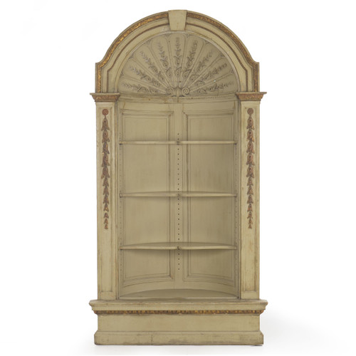Neoclassical Painted Built-In Corner Cupboard | Late 19th Century