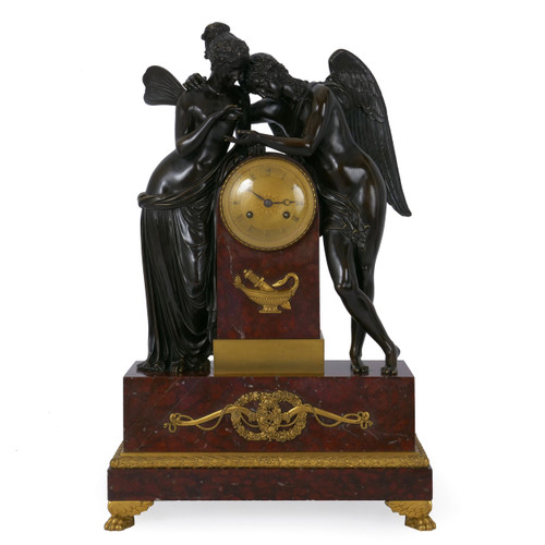 """Cupid & Psyche"", An Exceptional Empire Mantel Clock | France, circa 1815"