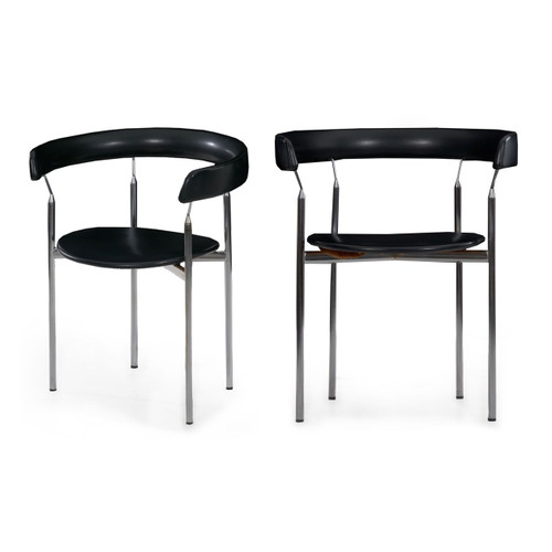 "Pair of ""Rondo"" Arm Chairs by Jan Knudsen for Sorlie Møbler"