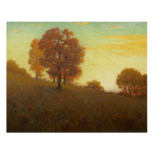 """Autumn Trees on a Hillside"", oil painting | Clark Summers Marshall"