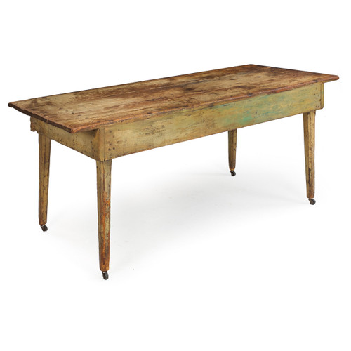 American Primitive Scrubbed Painted Pine Work Table