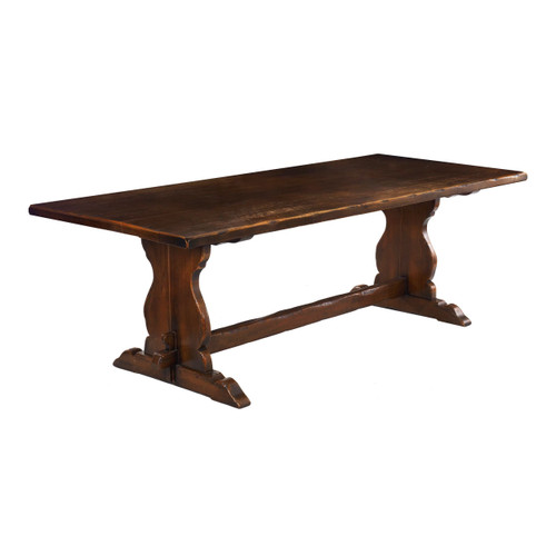 English Oak Plank-Top Refectory Table, 20th Century