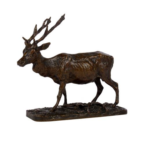"""Cerf"", bronze sculpture   Pierre Jules Mene"