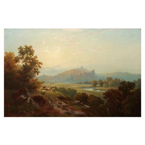 """Landscape View of Arundel Castle"" (1864) | Edward Moran"