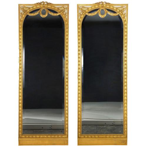 Pair of Louis XVI Style Full-Length Mirrors | Parisian Quality, circa 1900