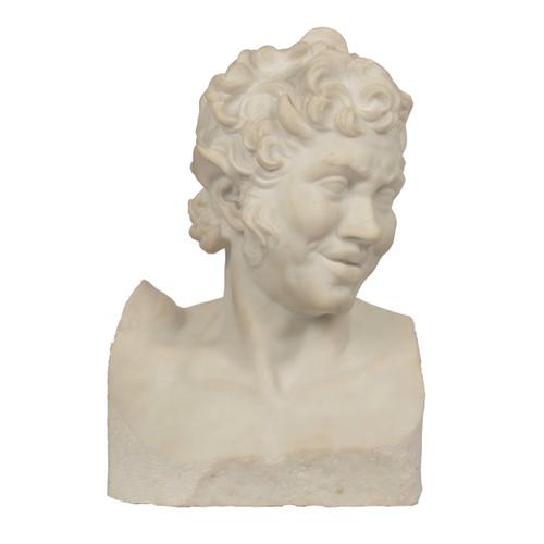 Grand Tour Marble Bust of a Satyr | Italian, 19th century