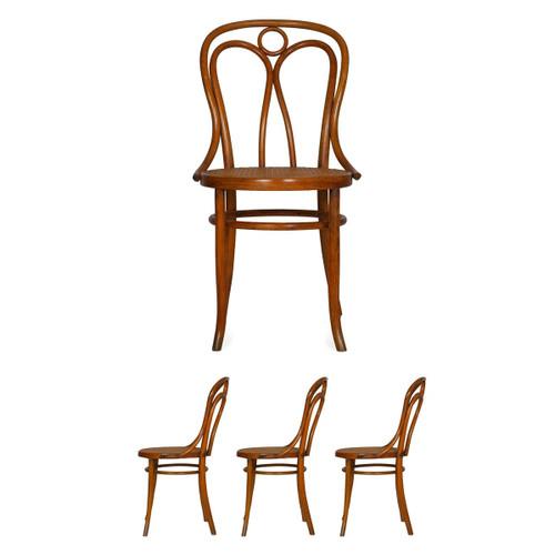 Set of 4 Austrian Bentwood Dining Chairs | Josef Kohn, no. 36, circa 1900