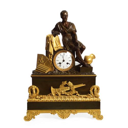 Empire Ormolu & Patinated Bronze Mantel Clock | Maison Barbot