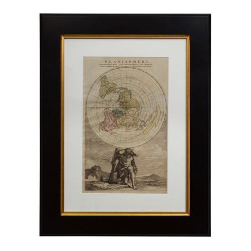 """Planisphere Representant Toute L'Etendue du Monde"" Map circa 1792"