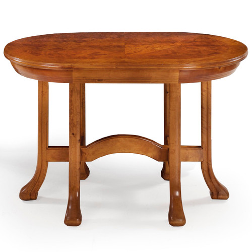 Swedish Grace Parquetry Inlaid Birch Center Table