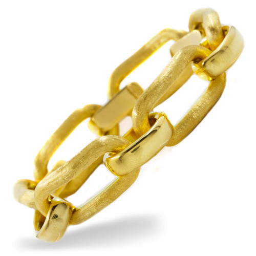 "Italian 18K Yellow Gold Florentine Links | 7 3/4"" long | 37.7 grams"