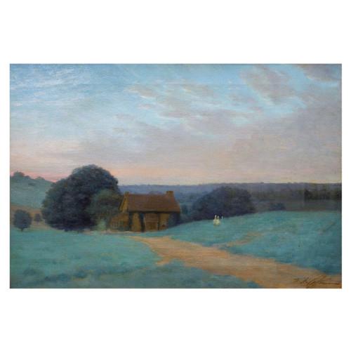 """Spring Landscape, Evening"" | William Anderson Coffin (American, 1855-1925)"