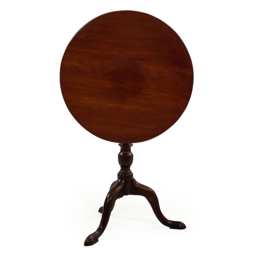 George III Mahogany Tilt-Top Tea Table | England, circa 1780