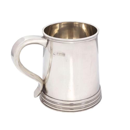 George III Style Sterling Silver Tankard circa 1906-7