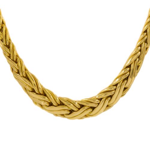 """Tiffany & Co 18K Gold Graduated Byzantine Necklace   16 1/4"""" L"""