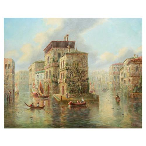 """Venetian Capriccio Landscape"", oil on canvas | James Salt"