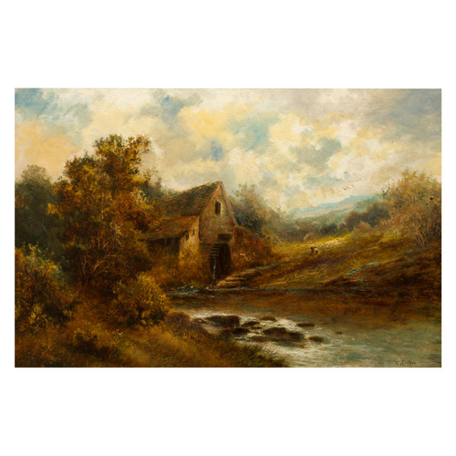 """""""The Old Mill"""", a landscape painting 