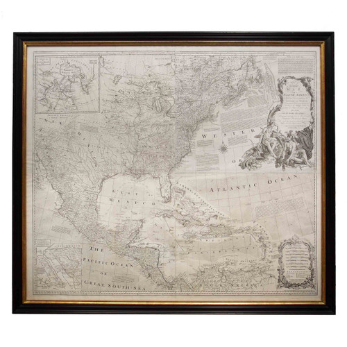 """Rare & Iconic """"Most Accurate Map of North America"""" 