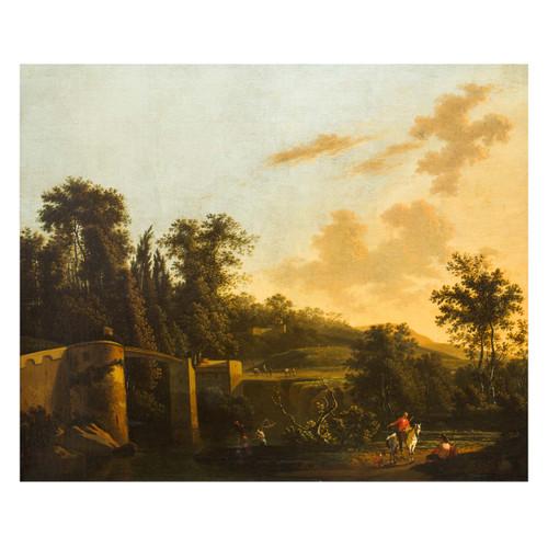 """Italianate Landscape"", oil painting | Adriaen Jansz Ocker"