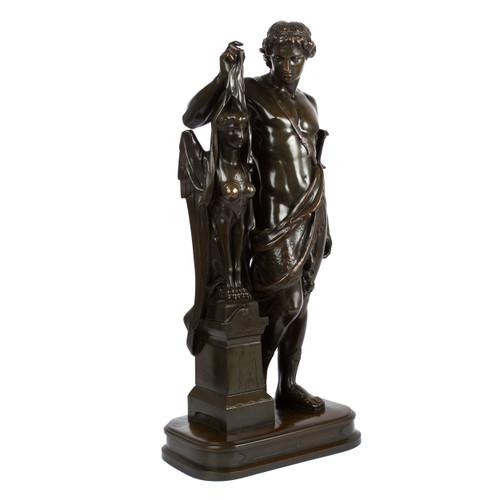 """Oedipe et la Sphinx"" (1869) | Pierre-Eugène-Emile Hébert"
