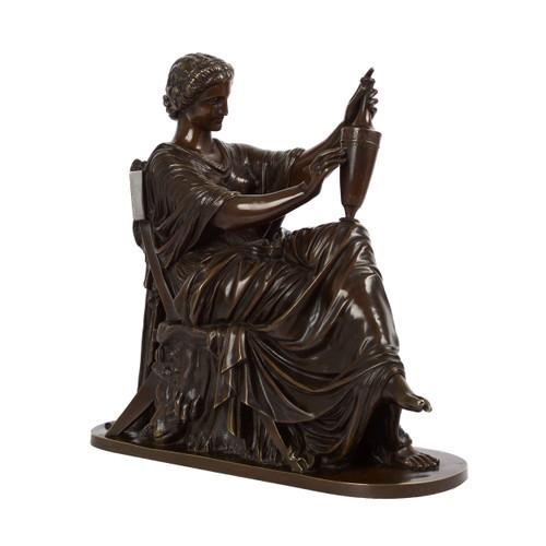 """Etruscan Art"", bronze sculpture | Victor Étienne Simyan (French, 1826-86)"
