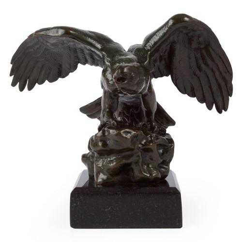 """Eagle"", bronze sculpture | after Antoine-Louis Barye, Barbedienne"