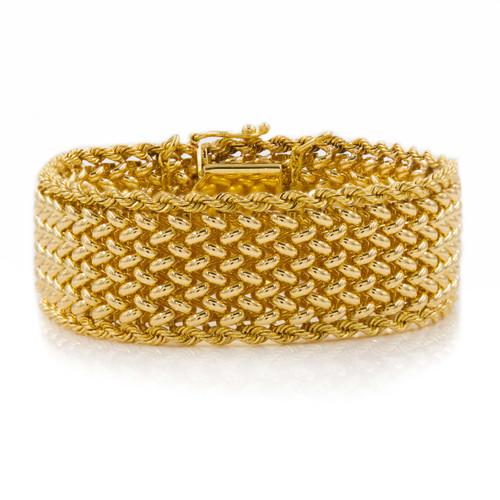 """Carl Lindstrom 14K Gold Mesh Bracelet, 6 1/2"""" long"""