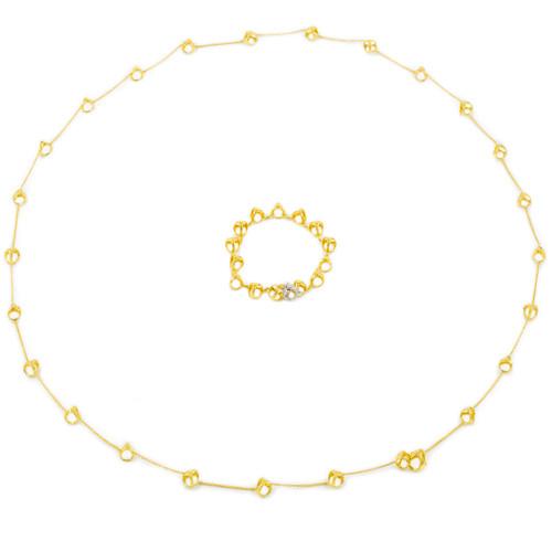 "DiModolo ""Triandra"" 18K Gold and Diamond Necklace and Bracelet"