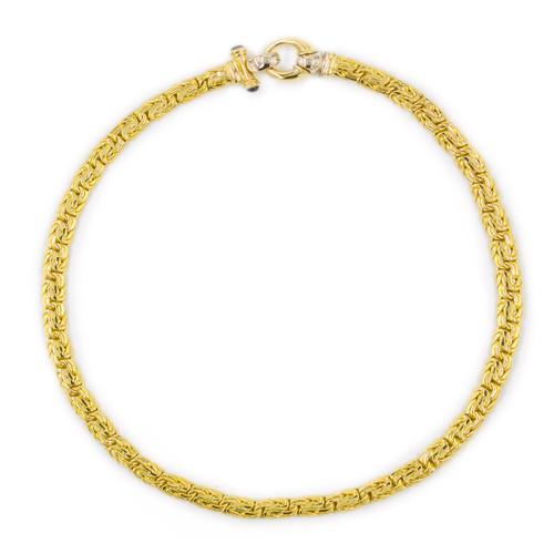 Italian 18k Yellow Gold Byzantine Necklace by Gioielli & Moda
