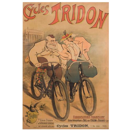 """Cycles Tridon"" Lithograph Poster | Maurice Lourdey, circa 1900"