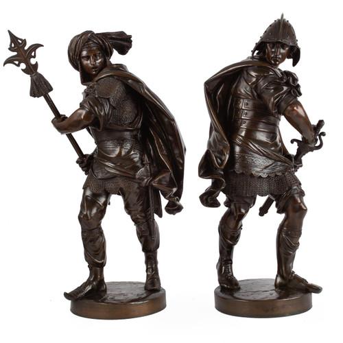 """Pair of 16th Century Warriors"" after Albert Ernest Carrier-Belleuse"