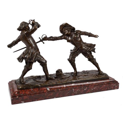 """Dueling Cavaliers"", bronze sculpture | Edouard Drouot"
