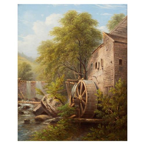 """Carl's Mill, Tarrytown, New York"" (1881) | William Rickarby Miller"