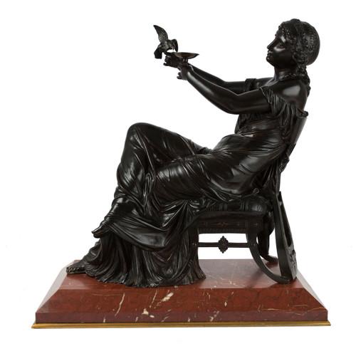"Bronze Sculpture ""Seated Sappho"" | François Mage"