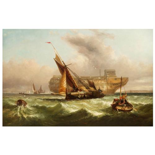"""Fishing Boats off the Coast"" | John Cheltenham Wake"