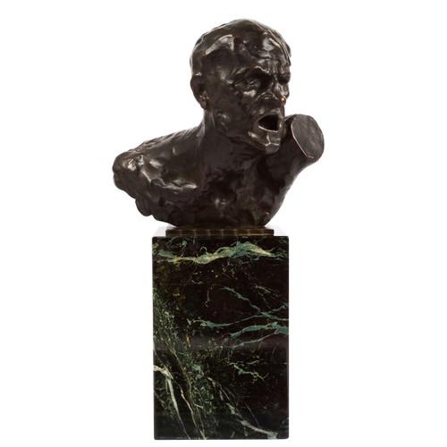 """Pain"" | Oszkár Zádory (Hungarian, 1883-1947) & Alexis Rudier"