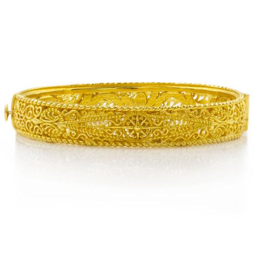 """Cynthia Bach 18k Gold """"Lace"""" Bangle Bracelet"""