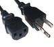 Male and Female ends of Shielded Power Cord