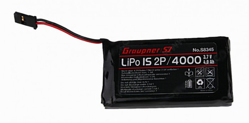 Graupner Transmitter Battery Li-Po 3.7V 1S2P 4000mAh for MZ-24 & MZ-18