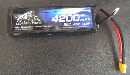 Leopard Power  4200 mAh 50C 4S  14.8v LiPo Battery