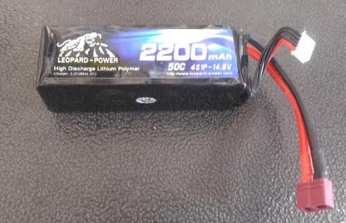 Leopard Power 2200 mAh 50C 4S 14.8v Lipo Battery