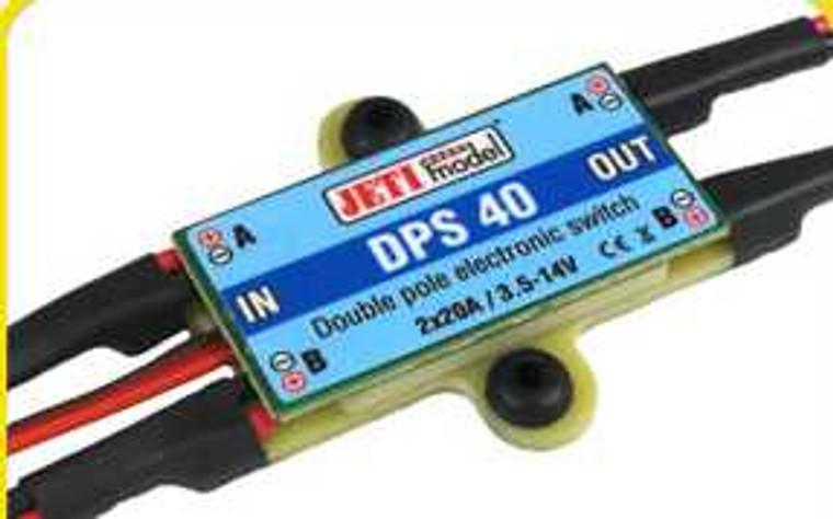 Jeti Electronic Switch Dual w/ Magnetic Key DPS 40