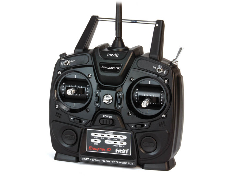 Graupner MZ-10 5 Channel 2.4GHz HoTT Transmitter + GR-12L Receiver