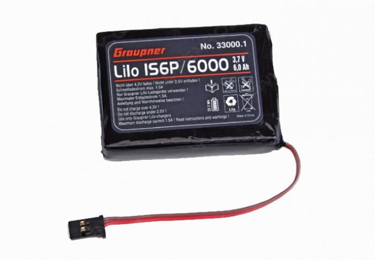 Graupner Transmitter Battery Li-Ion 3.7A 1S6P 6000mAh for MC-32